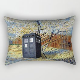Starry Night of Tardis Rectangular Pillow