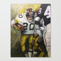 steelers Canvas Prints featuring Rocky by Genest Hockey Art