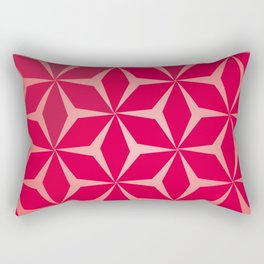 Flowers and geometry in pink Rectangular Pillow