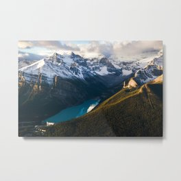 Lake Louise From Above Metal Print