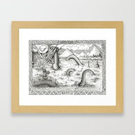 Jormungand Battle Framed Art Print