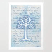 gondor Art Prints featuring Tree of Gondor by JadeJonesArt