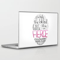 fierce Laptop & iPad Skins featuring FIERCE by Lex Bleile