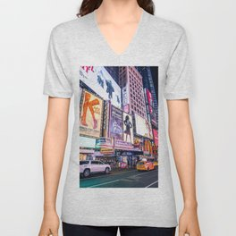 New York Neon Jungle Unisex V-Neck