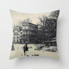 Winter's Coming Throw Pillow