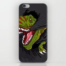 Agressive t rex. iPhone Skin