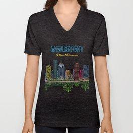 Houston Better Than Ever Circuit Unisex V-Neck
