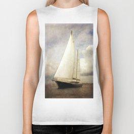 sailboat in grunge Biker Tank