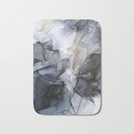 Calm but Dramatic Light Monochromatic Black & Grey Abstract Badematte