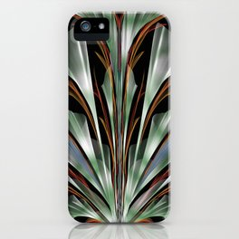 Retro Abstract Floral Design iPhone Case