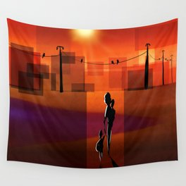 The warm walk home Wall Tapestry