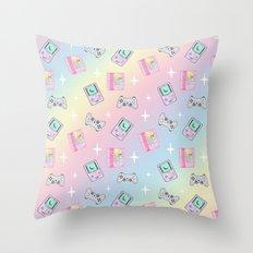 Magical Girl Gaming Rainbow Throw Pillow