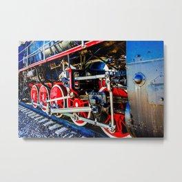 Power Of A Vintage Steam Engine Locomotive Metal Print