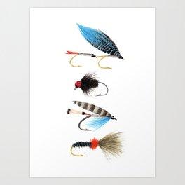 Fly fishing Kunstdrucke