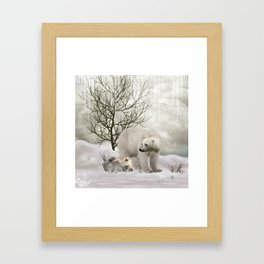 Awesome polar bear Framed Art Print