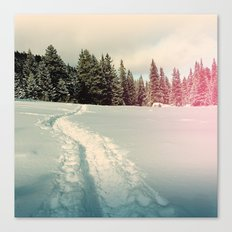 path in the snow Canvas Print