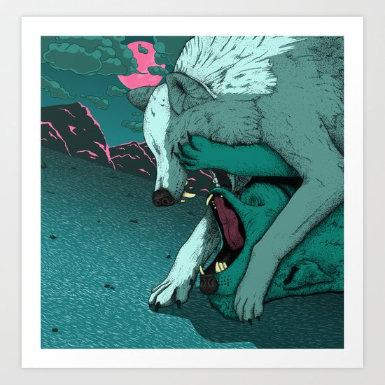Ballad of the Wolf Art Print