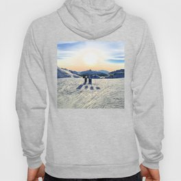 The snow, signs, shadows, sun, sky - and the surrounding! Hoody