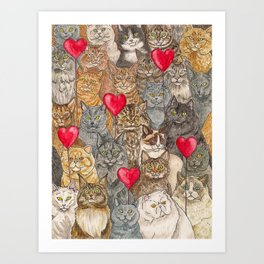 Love, Cats. Art Print