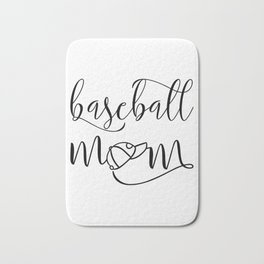 baseball mom, sport, cap Bath Mat