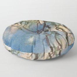Goddess Rhea's blue willow artwork Floor Pillow