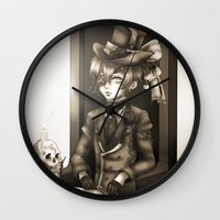 kuroshitsuji Wall Clocks featuring Ciel Phantomhive - The Queen's Watchdog by Lalasosu2