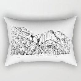 Yosemite Falls in the Valley of Yosemite National Park Rectangular Pillow