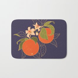 Orange Branch Bath Mat