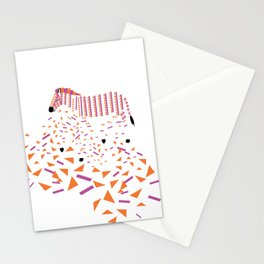 Geometric Zebra Stationery Cards