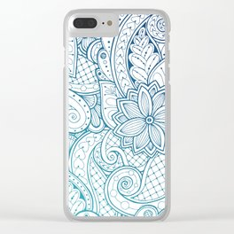 Ethnic floral Mandala Clear iPhone Case