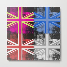 Union Jack Pop Art Metal Print