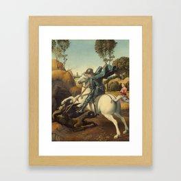 Raphael - Saint George and the Dragon Framed Art Print