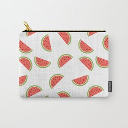 WATERMELON SLICES WITH SEEDS FRUIT FOOD PATTERN Carry-All Pouch