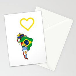 The Love Of South America Stationery Cards