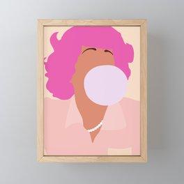 Frenchy Grease 70s movie Framed Mini Art Print