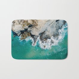 Ocean Waves Crushing, Drone Photography, Aerial Landscape Photo, Large Printable Photography, Ocean Bath Mat