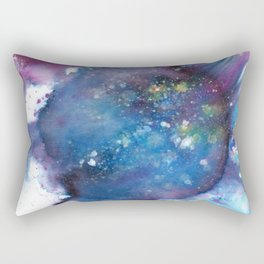 Blue Abstract Art Painting Rectangular Pillow