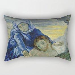 Pietà (after Delacroix) Rectangular Pillow