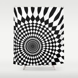 Wonderland Floor #5 Shower Curtain