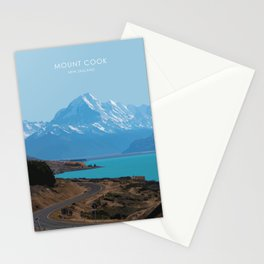 Aoraki/Mount Cook New Zealand Travel Artwork Stationery Cards