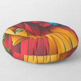 The Queen Cubism Art Floor Pillow