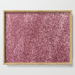 Pink Glitter Serving Tray