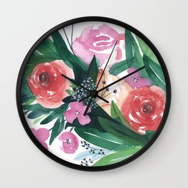 Spring Gatherings Wall Clock