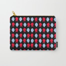 Red and Blue, and Black All-over Carry-All Pouch
