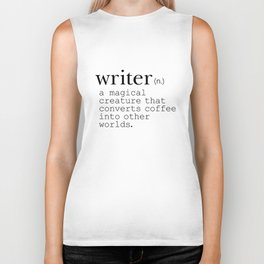 Writer Definition - Converting Coffee Biker Tank