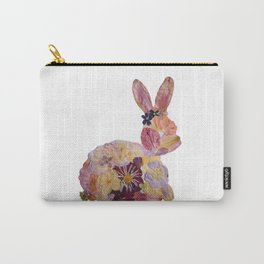 Pressed Flower Bunny Carry-All Pouch