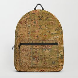 Persian 19th Century Authentic Colorful Muted Green Yellow Blue Vintage Patterns Backpack