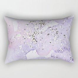 Pastel Glitter Watercolor Painting Rectangular Pillow