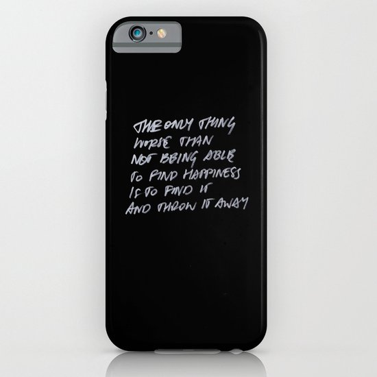 Throw Away iPhone & iPod Case