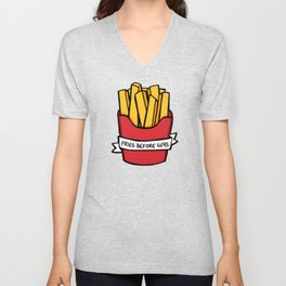 Fries Before Guys Unisex V-Neck